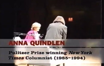 She Says: Women In News  •  Anna Quindlen