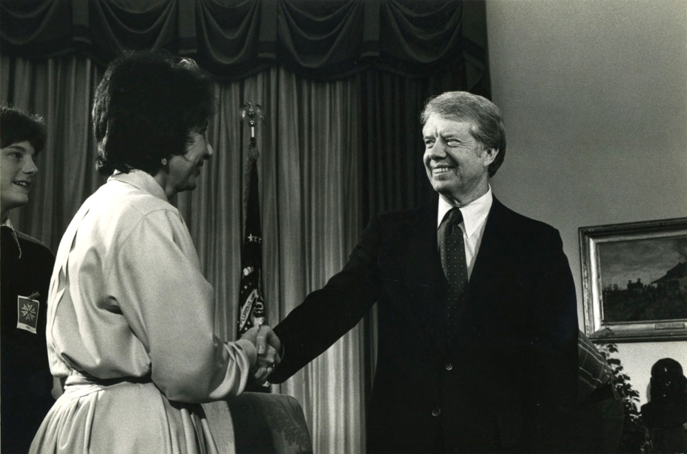 On location with President Carter