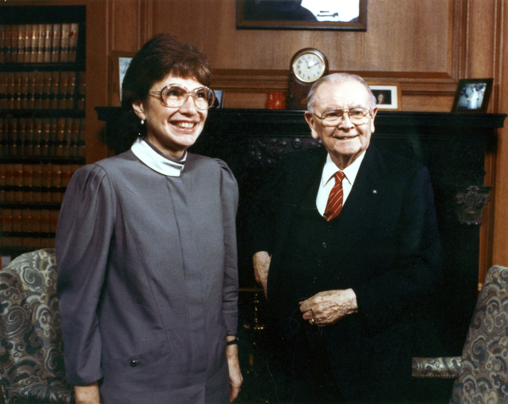 At the Supreme Court with Justice William Brennan, '96