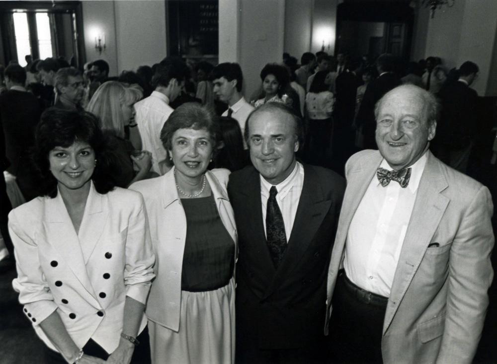 Former Dean Osborn Elliott and Peter Arnett, CNN correspondent, '80s