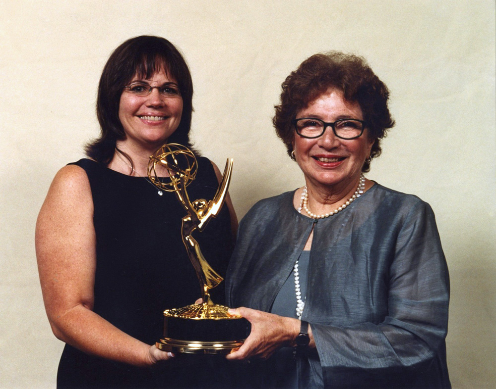 Emmy for <em>She Says: Women in News</em>, producer/writers Joan Konner and Barbara Rick, '2001