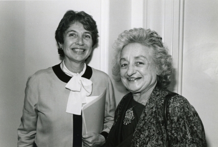 With feminist writer Betty Friedan