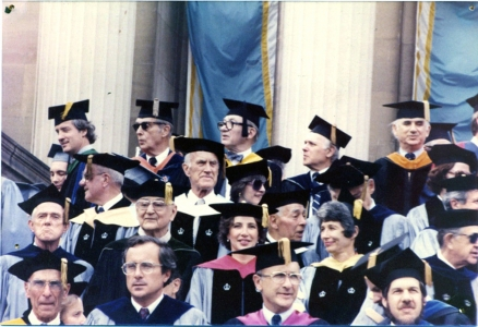Trustees at graduation, '78–'88